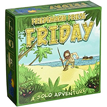 If you are looking for the best solo board games amongst light weight board games, Friday will not disappoint.