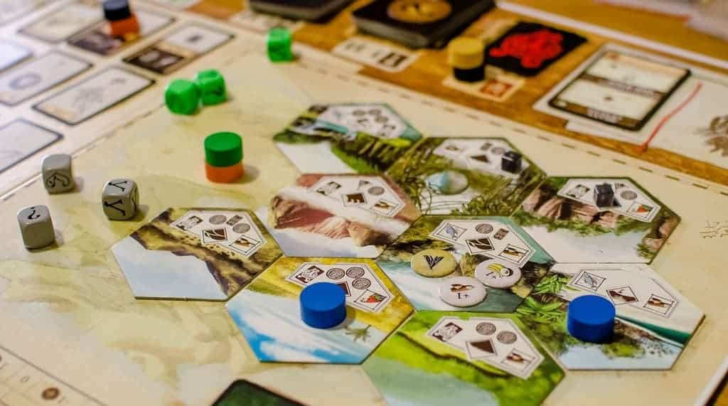 Robinson Crusoe is one of the top choices for solo board game play, but it plays just as well with 2,3 or 4 players.