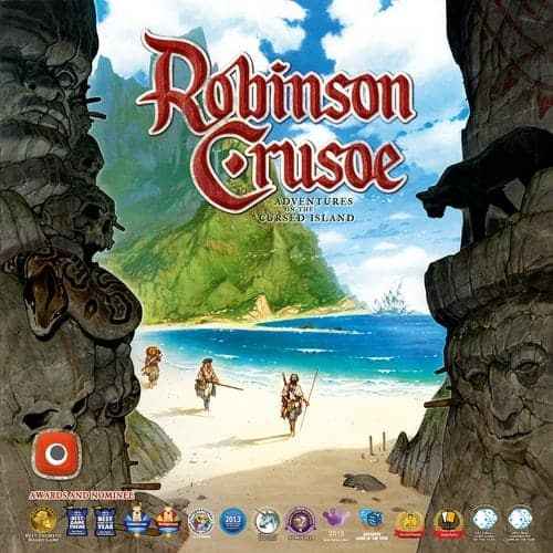 The all time favorite Robinson Crusoe is not only one of the best one player board game. It is also one of the most thematic, engaging, multiplayer survival games we have played.