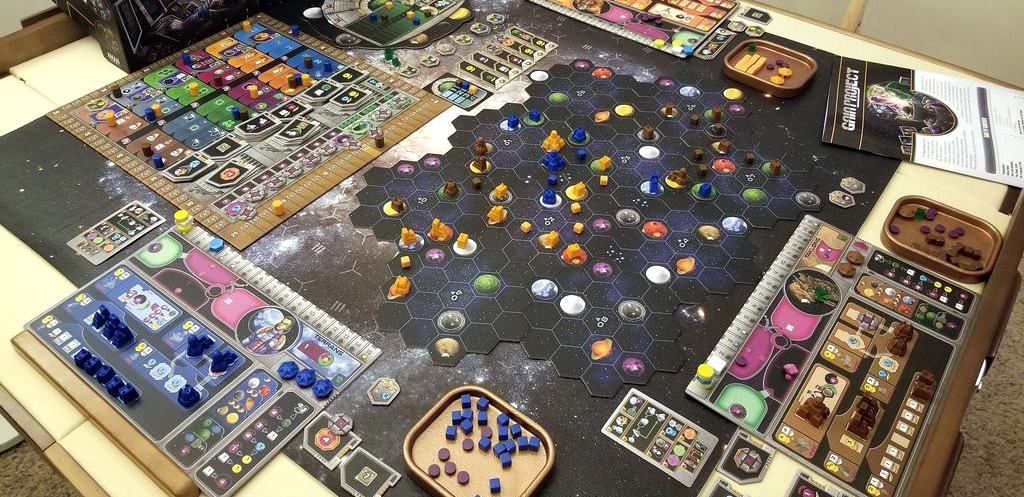 Complex, overwhelming and not for everyone. Nevertheless, one of the top 3 player board games we have experienced to date.