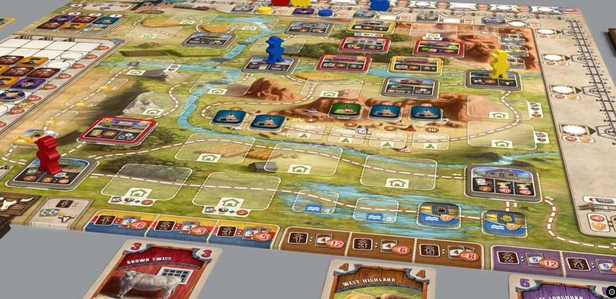 Board games are typically designed for 2 or 4 players, so coming across good 3 player board games does not happen every day. Great Western Trail however is exactly that!