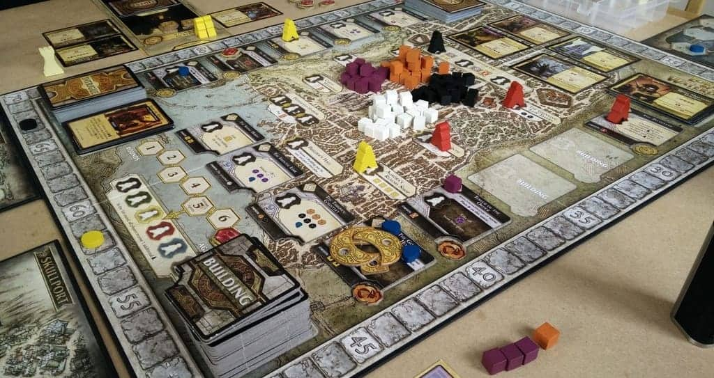 If you are looking for the top 3 player board games for new players, it would be hard to beat Lords of Waterdeep. The game is extremely new player friendly,
