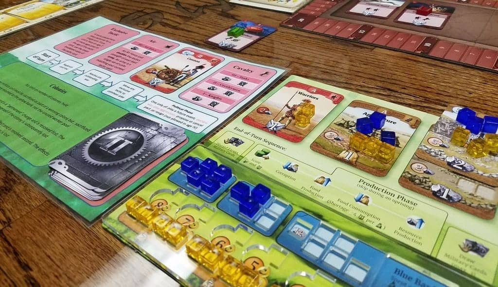 If you are looking for top of the top three player board games, then Through The Ages is as balanced and refined as it gets.