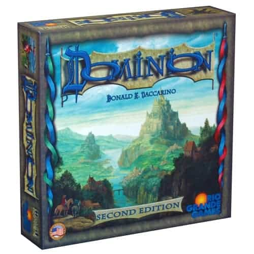 Dominion is an all time favorite that can be played with any number of players between two and four. Yet, it seems to shine with something in the middle making it one of the best board games for 3 players available today.