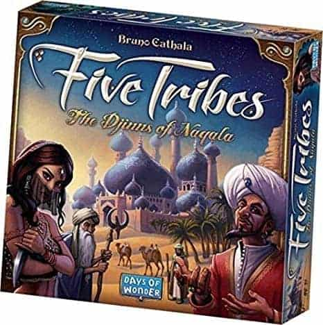 If you are looking for a colorful, fun and engaging casual, almost a filler game - Five Tribes is one of the best three player board games you will find.