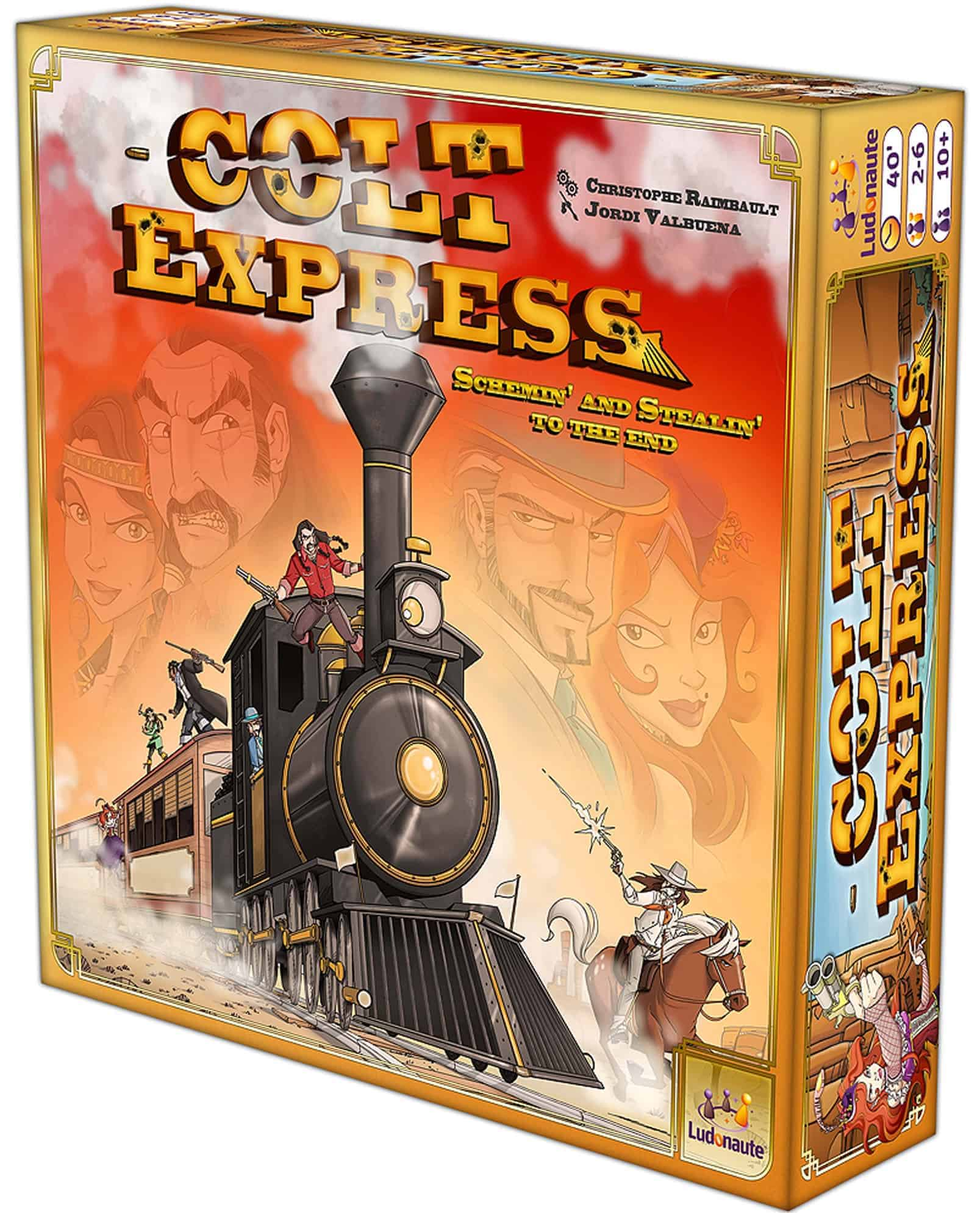 Colt Express is easy and extremely accessible, one of the best board games for family with kids.