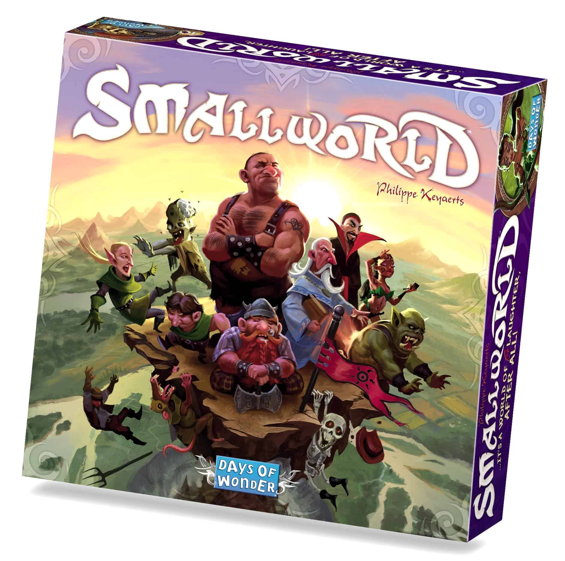 If you want a mix of fun, strategy and beauty - Small World challenges best family strategy board games for a pole position.