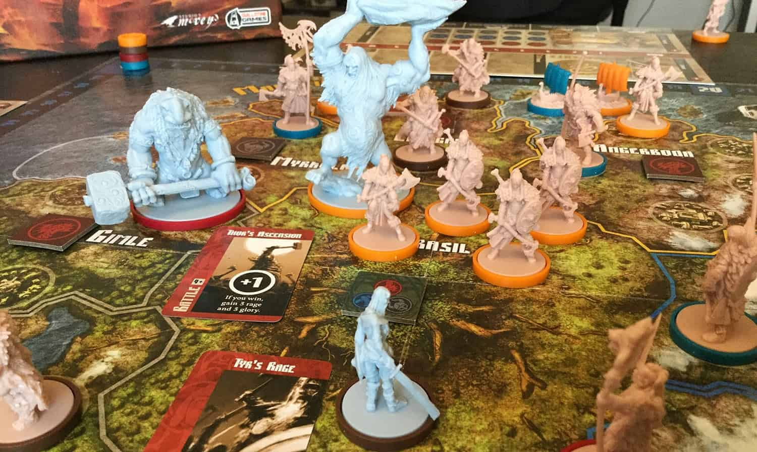 Blood Rage comes with one of the best fantasy board game miniatures around!