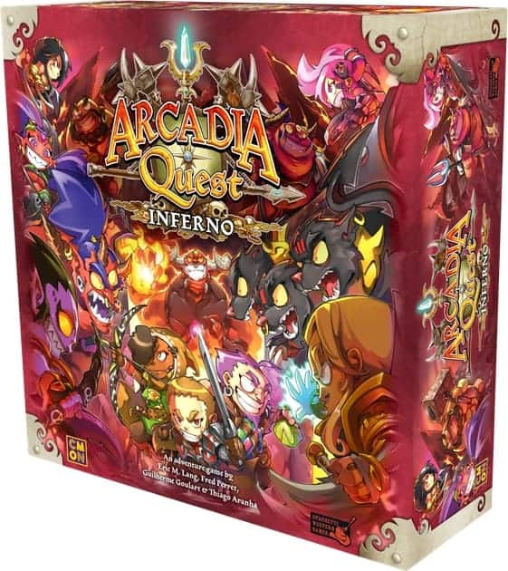Arcadia Quest: Inferno has made it into our top 10 RPG board games list due to fun and simple game play that many people will enjoy.