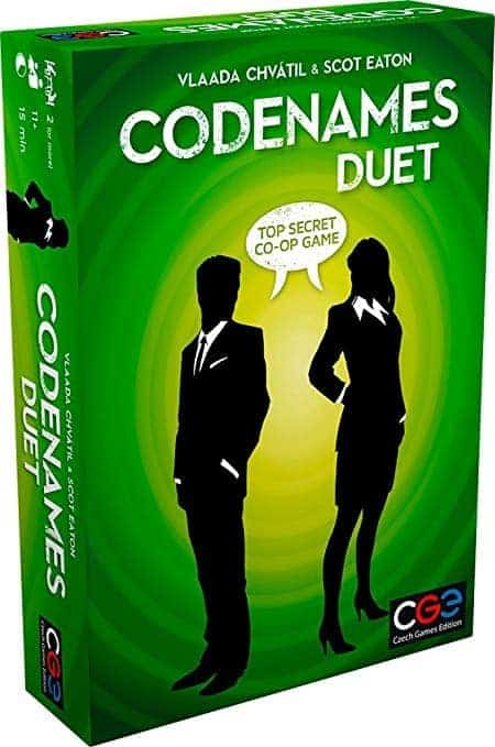 Spies, conspiracy and suspense? Codenames Duet might be one of the best 2 player board games for you.