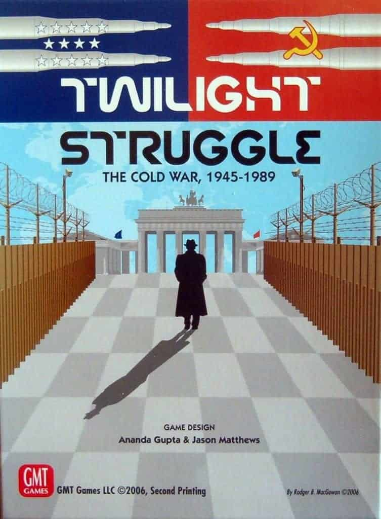 Twilight Struggle is one of the best 2 player board games ever made. In fact, you can only play it with 2 players.