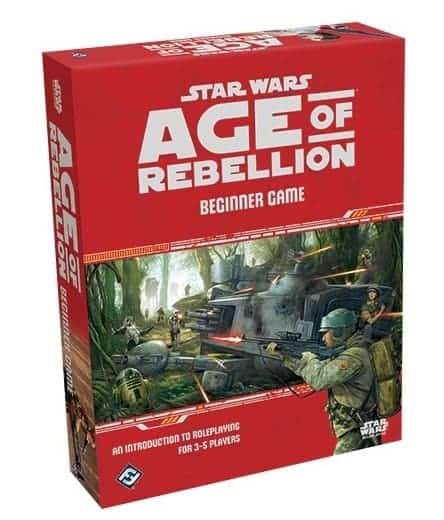 There are number of star wars roleplaying games out, but Star Wars: Age of Rebellion Beginner Game is one of the best ways to start.