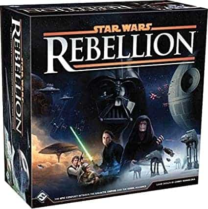 My personal favorite - star wars rebellion board game! It has everything I a need from an engaging, thematic and addictive boar game!