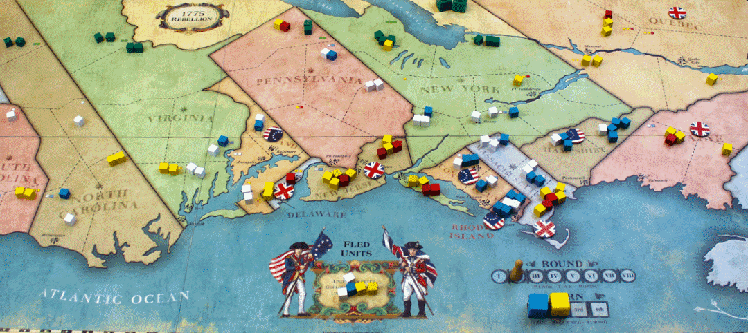 Beautiful and simplistic design, elegant rules and smart game mechanic make 1775: Rebellion one of the best civil war board games out there