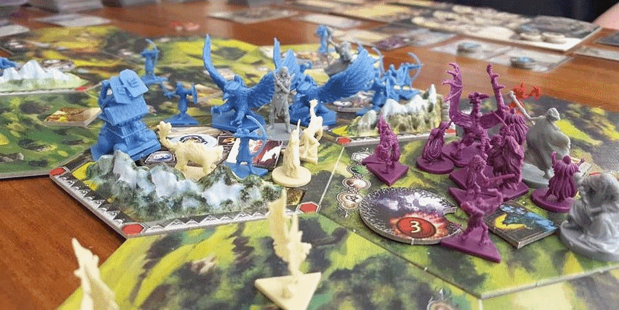 I don't know about you, but fantasy war board games are my favorite. I could start them playing and never stop