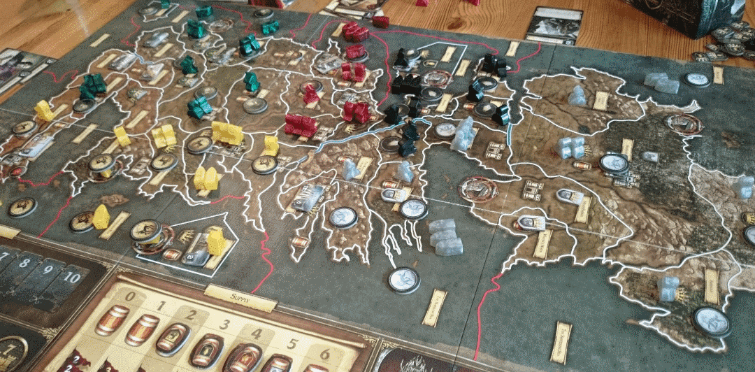 If you are looking for the best classic war board games, A Game of Thrones is not that. It is a wargame with a twist.