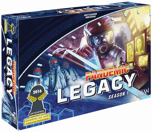 Pandemic Legacy: Season 1 is the most successful and sold in our list of legacy board games