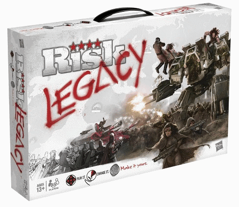 Risk is one of the best legacy style board games is you want to play a wargame.