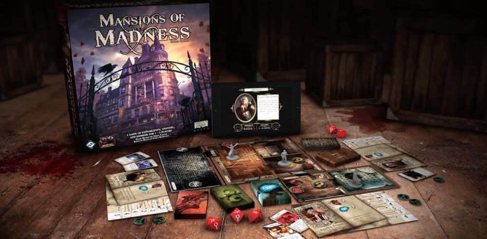 If you were looking for the game with good mobile app integration - Mansion of Madness has the digital board game background!