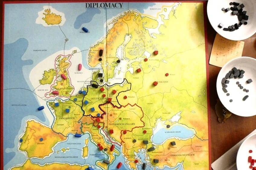 diplomacy is a military strategy game about domination, negotiation and tactics