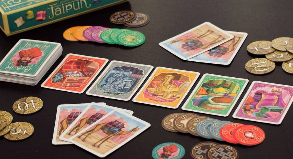 Buy and sell cards from your hand as a middle East merchant of Jaipur