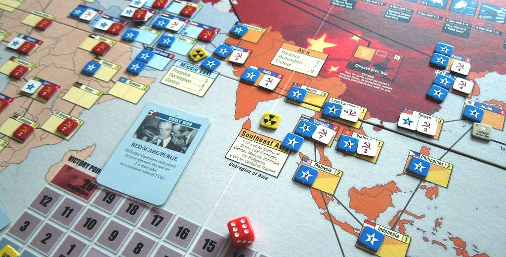 Twilight Struggle is a 2 person cold war saga, players should expect tension and heat