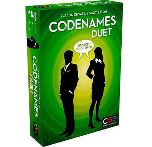 Codenames Duet is one of our top couple recommendations to have on the go